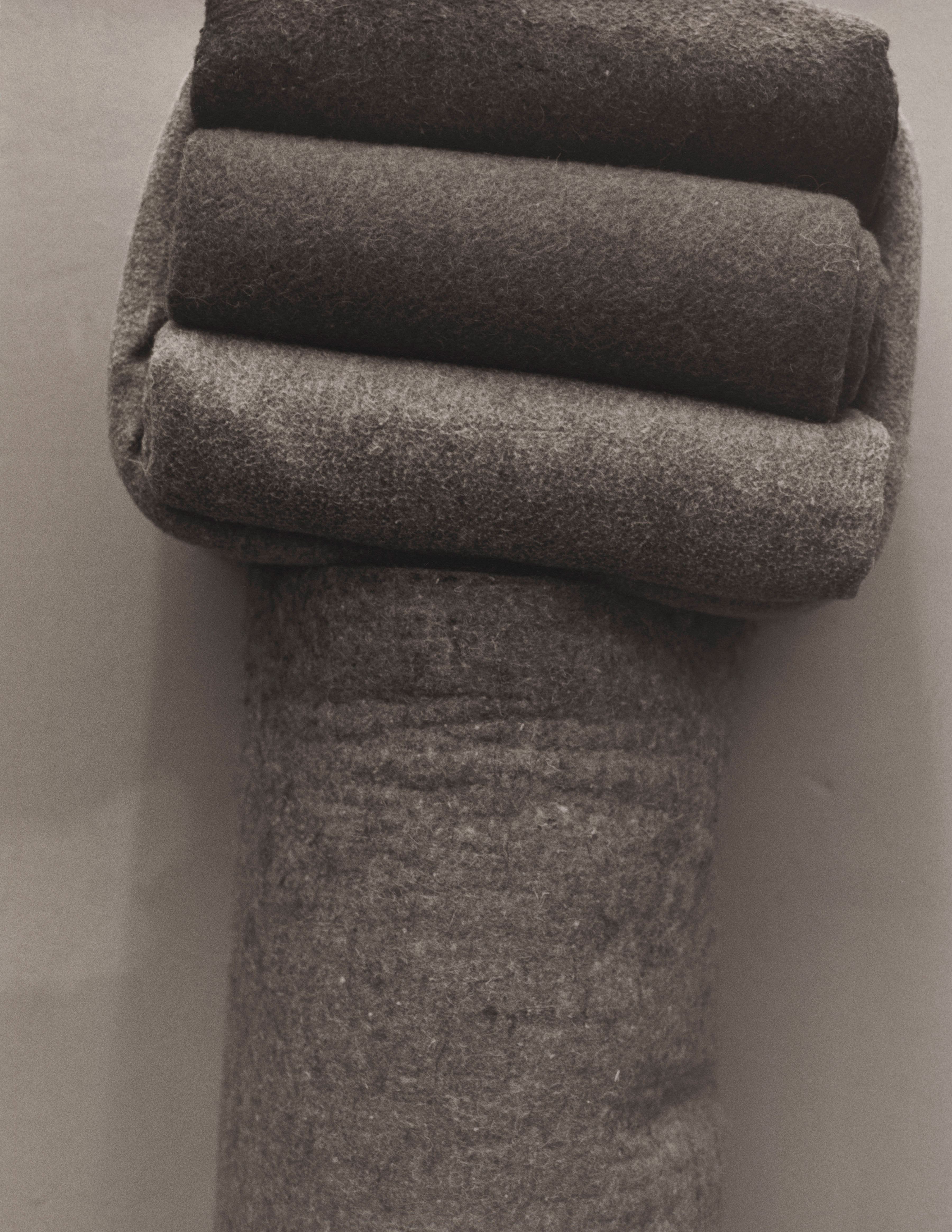 Mandela's blankets, which had to be folded neatly every day.                                                                                             1992