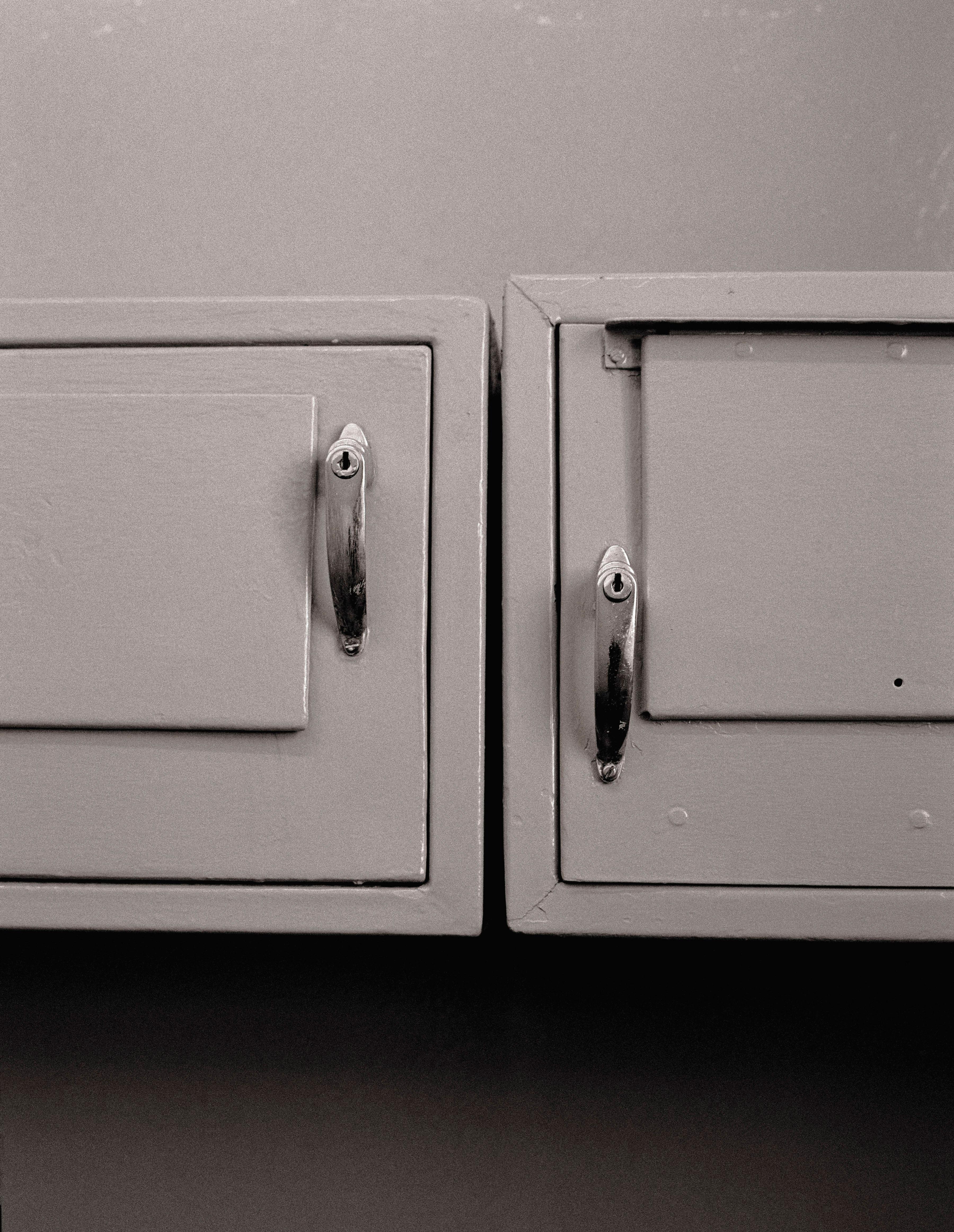 Mandela stored his few belongings in these personal lockers.                                                                                             1992