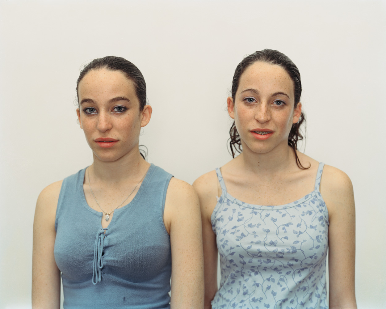 Chen and Efrat, Herzliya, Israel, March 4, 2002Dijkstra has followed a number of her young subjects over a period of years to watch them grow into themselves. One series follows the evolution of identical twin sisters.