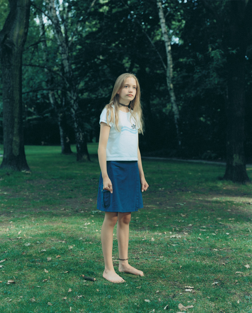 Tiergarten, Berlin, Germany, June 27, 1999The series of portraits Dijkstra made over a period of years of kids in Berlin's Tiergarten park sometimes make them seem to be hesitating at the threshold of their own maturity.