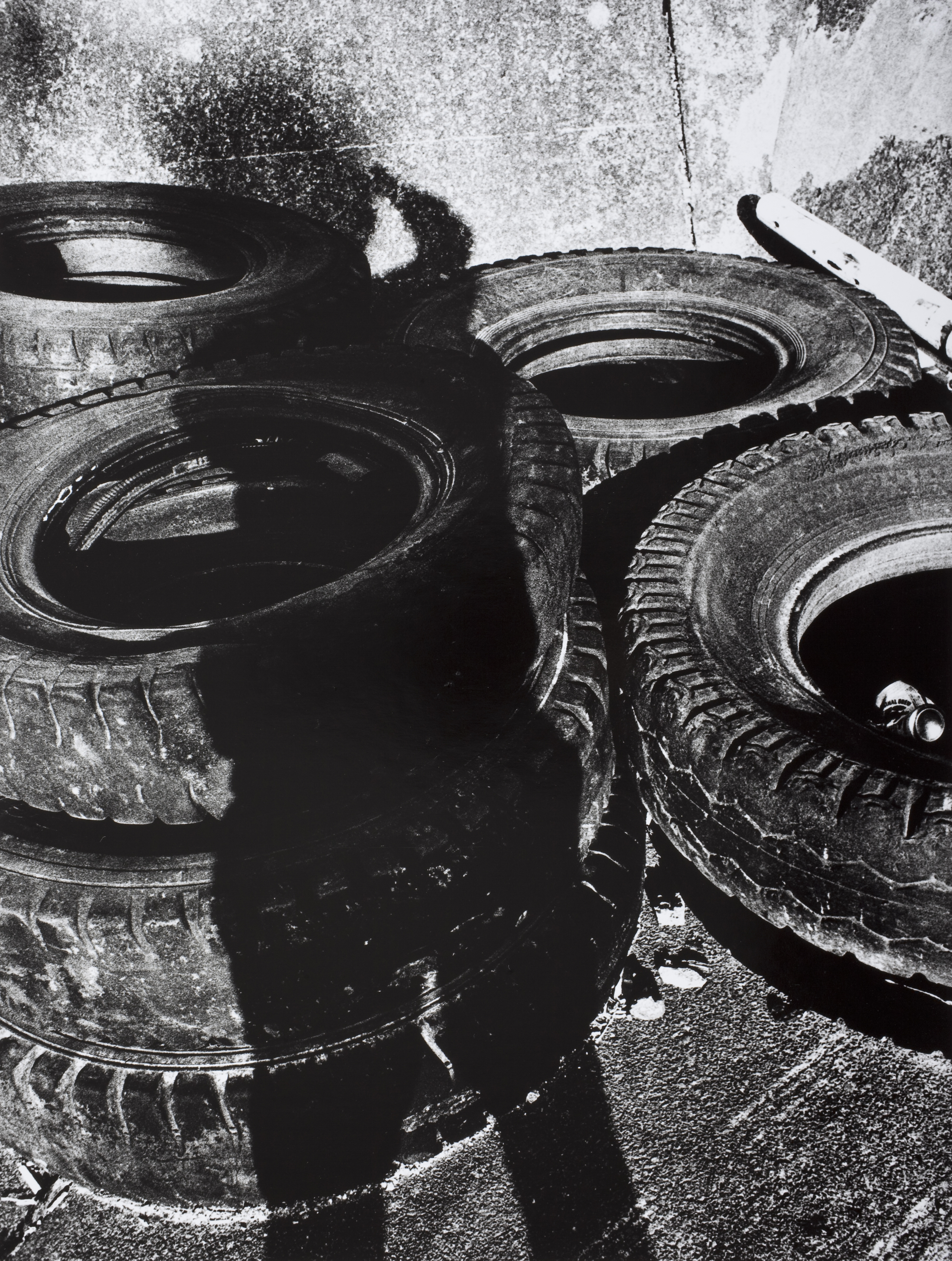 Untitled (shadows with tires), printed 2009