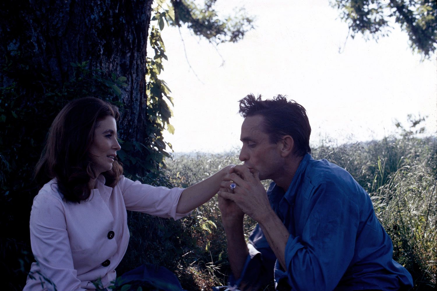 With second wife June Carter Cash, July 1967.
