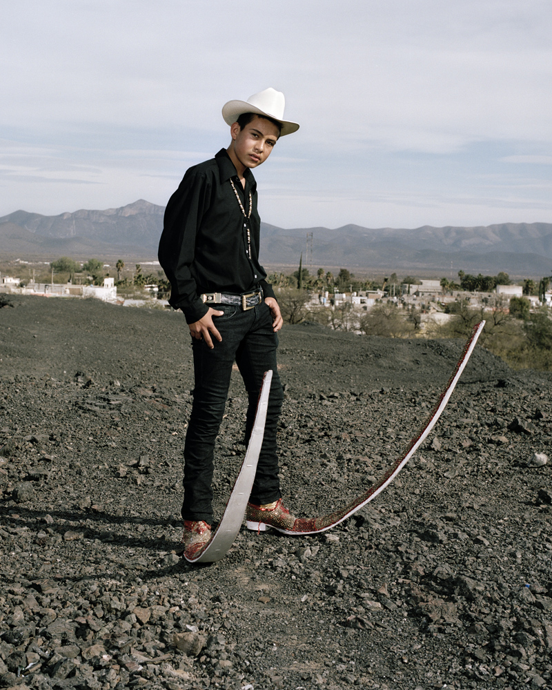 The following photographs were taken in January of 2012.A member of  Los Socios  pointy boots crew from Matehuala, Mexico.