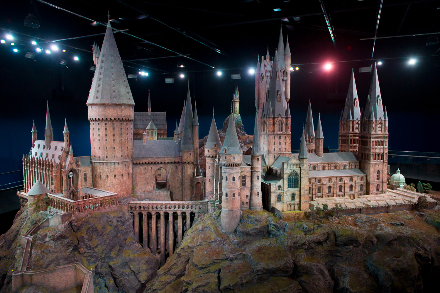 March 1, 2012. A model of Hogwarts castle from the Harry Potter film series is unveiled at the Warner Bros Studio Tour, Watford, London.