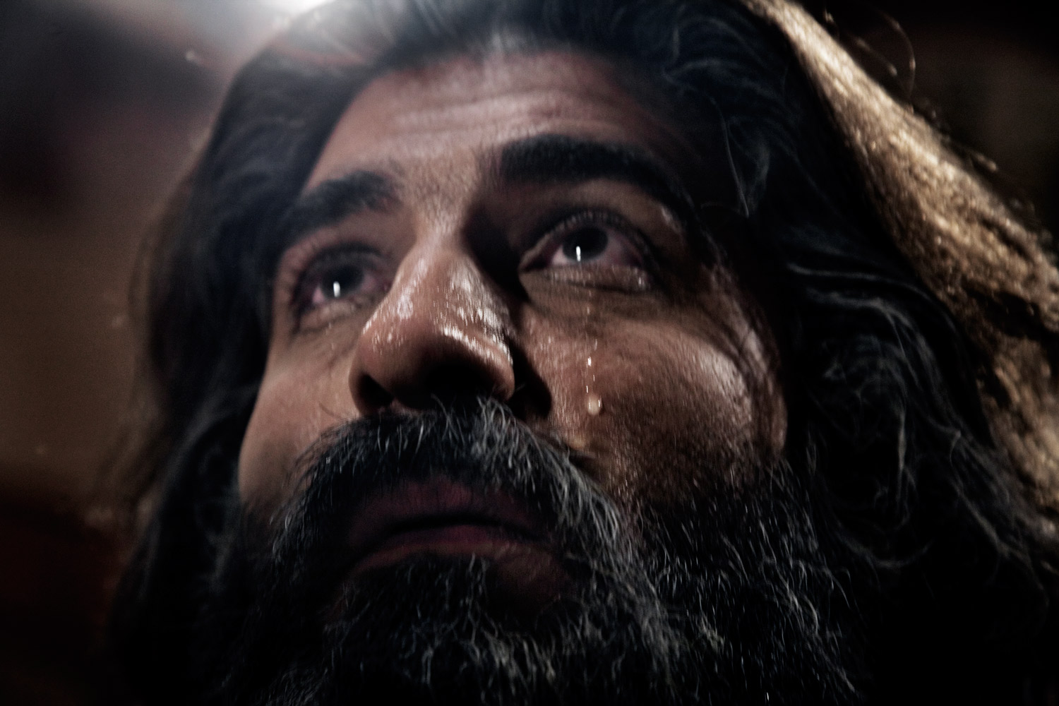 An actor performs in a scene during the filming of the religious colossal Joseph in Tehran.