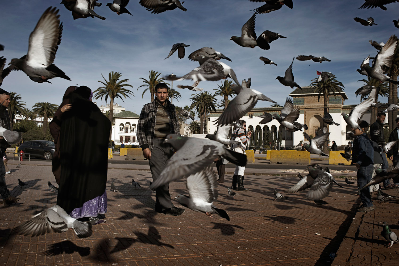 March 2012. Casablanca's Mohammed V Square.