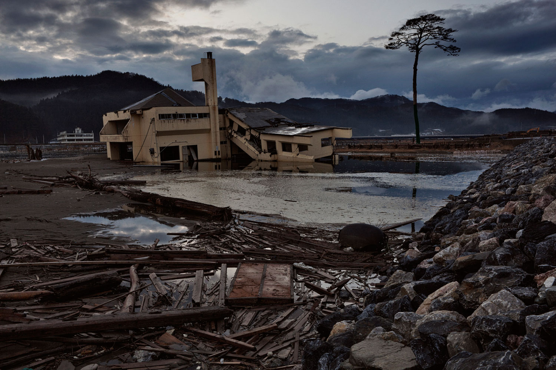 Feb. 23, 2012. Rikuzentakata, Japan. A landscape of destruction.