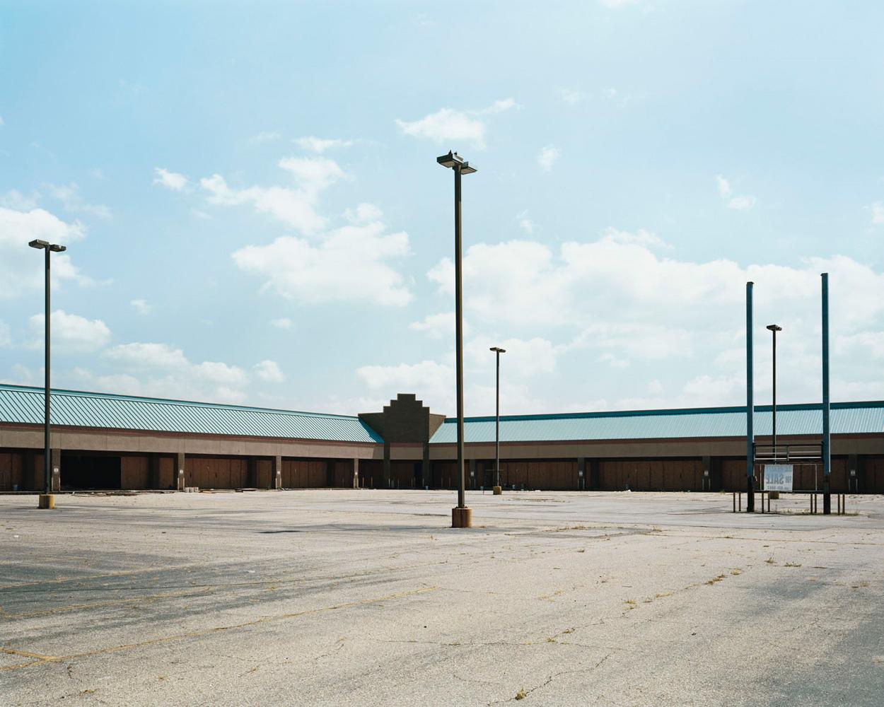 Post-Katrina tour, New Orleans – USA. 2009.Abandoned strip mall seen on a tour of post-hurricane devastation.