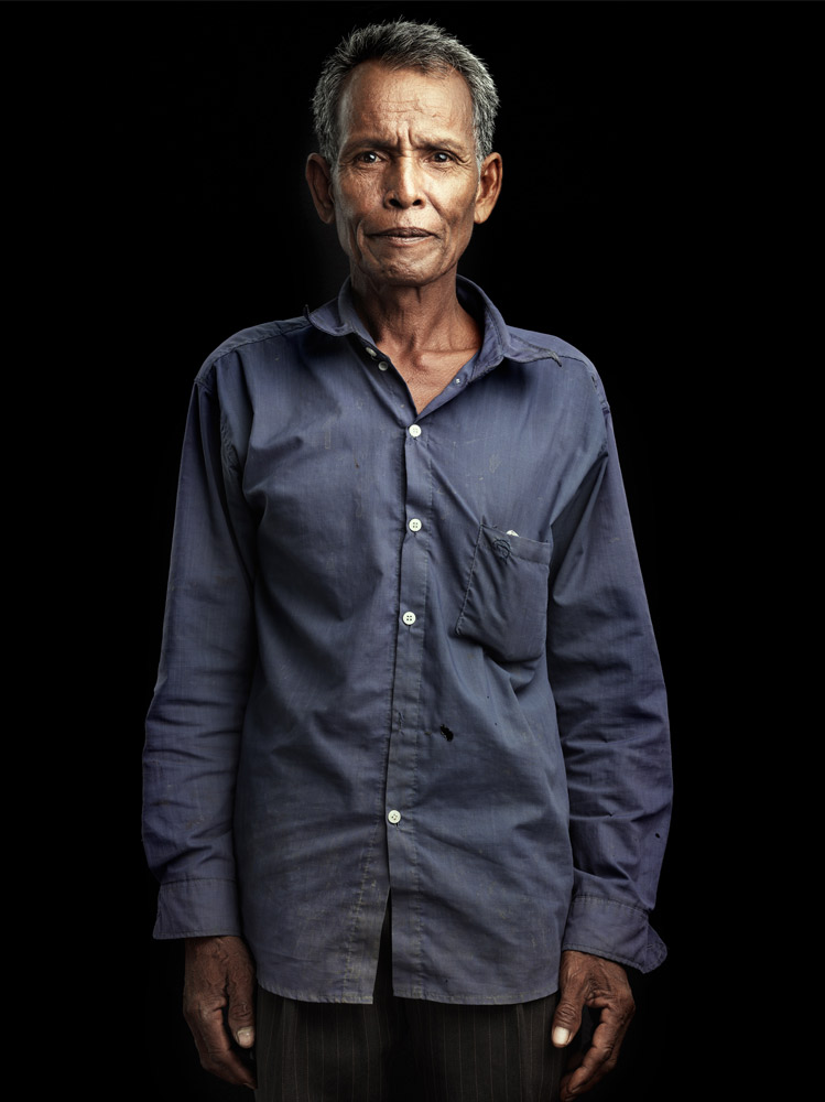 Soy Eang is living in a village right next to an area that is being cleared of mines in Banteay Mancheay Province.