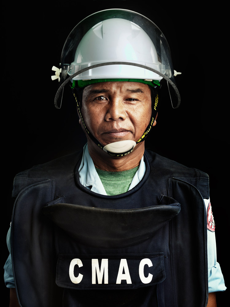 Lonh Chean is a CMAC deminer. He has been with CMAC for more than 10 years now.