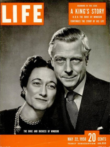 May 22, 1950, cover of Life magazine featuring the Duke and Duchess of Windsor.