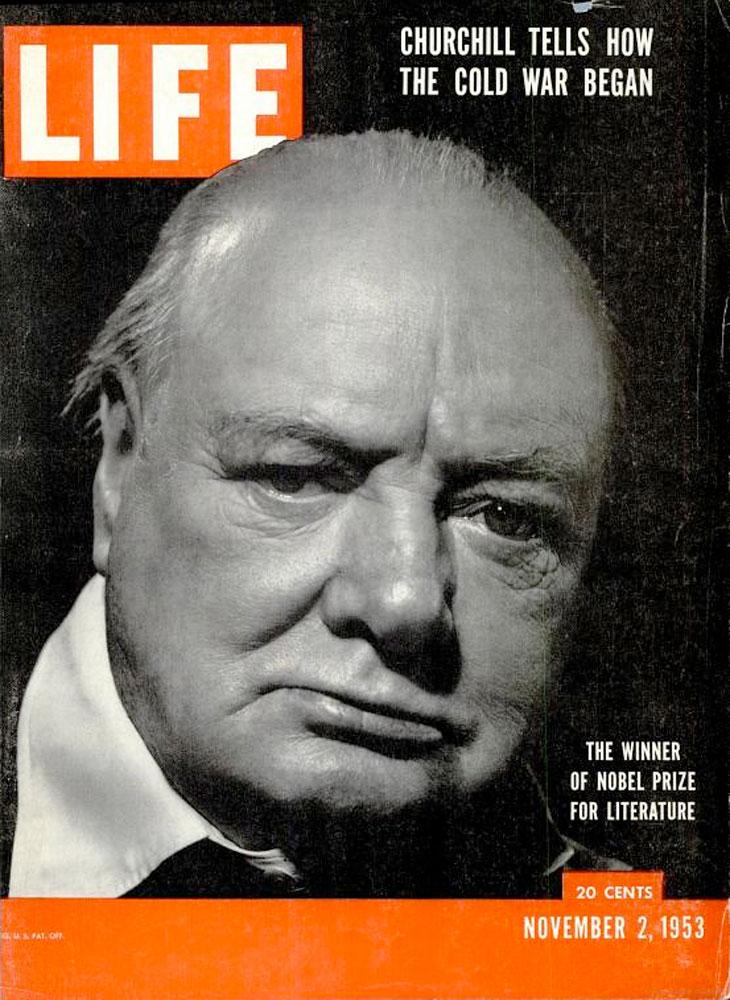 November 2, 1953, cover of LIFE magazine featuring Winston Churchill.