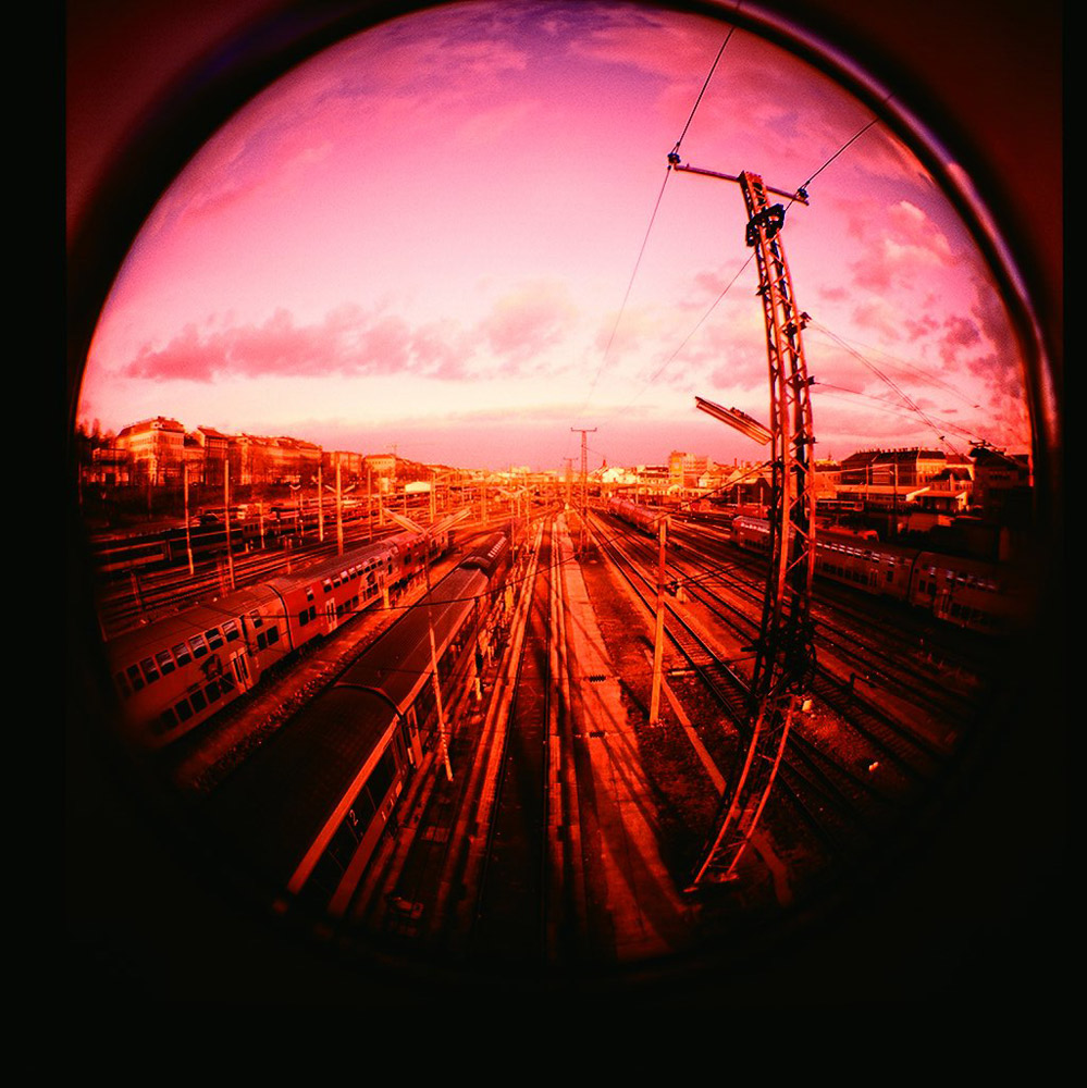 Taken with a  Diana F+  camera.