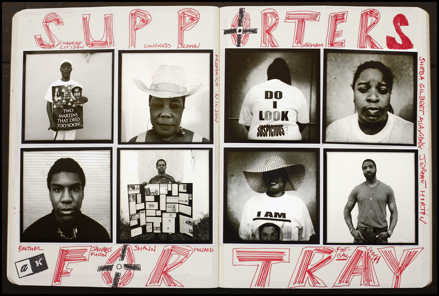 Another spread from Kaufman's journals. AK FOTO Journal #3