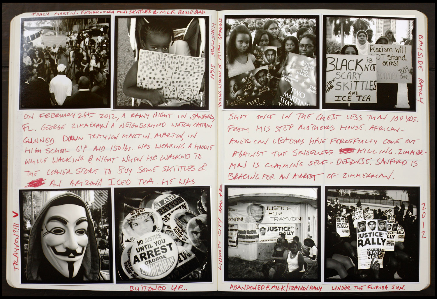 Another spread from Kaufman's journals. AK FOTO Journal #2