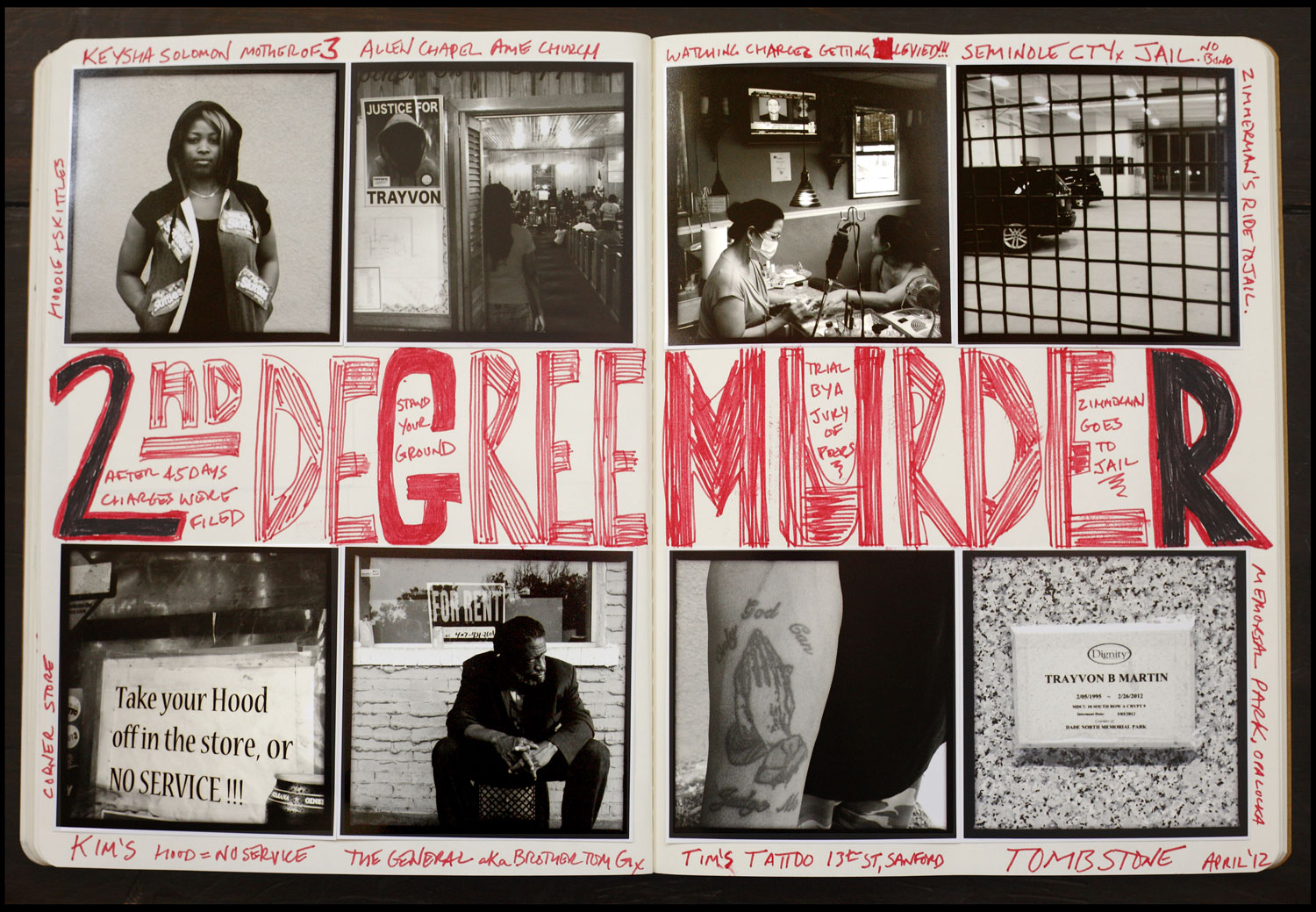 Another spread from Kaufman's journals. AK FOTO Journal #4