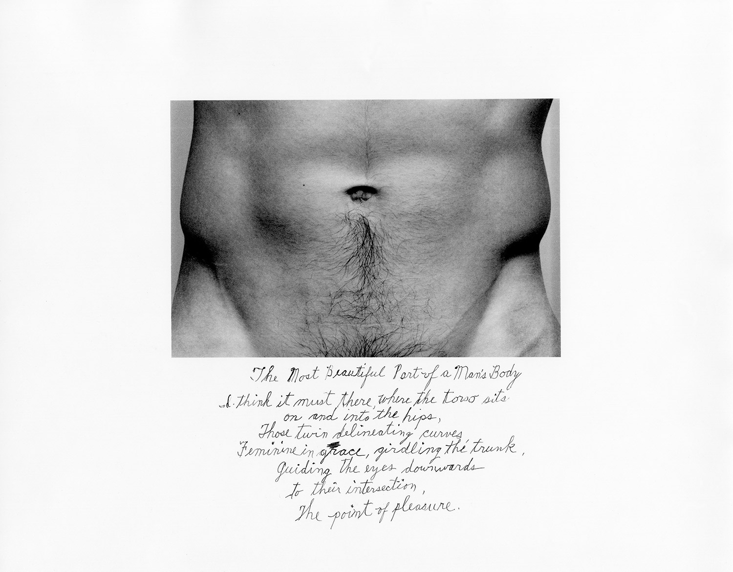 The Most Beautiful Part of a Man's Body, 1986
