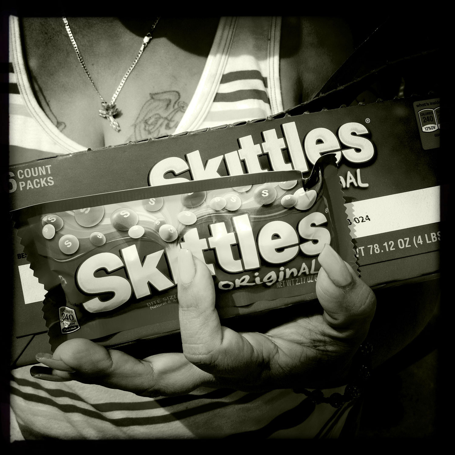 Skittles for sale at the Bayside Amphitheater rally, Miami, FL, April 1, 2012