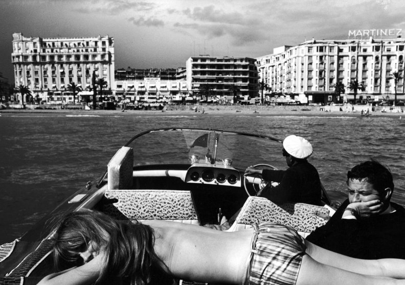 A scene from Cannes during the International Film Festival, 1962.