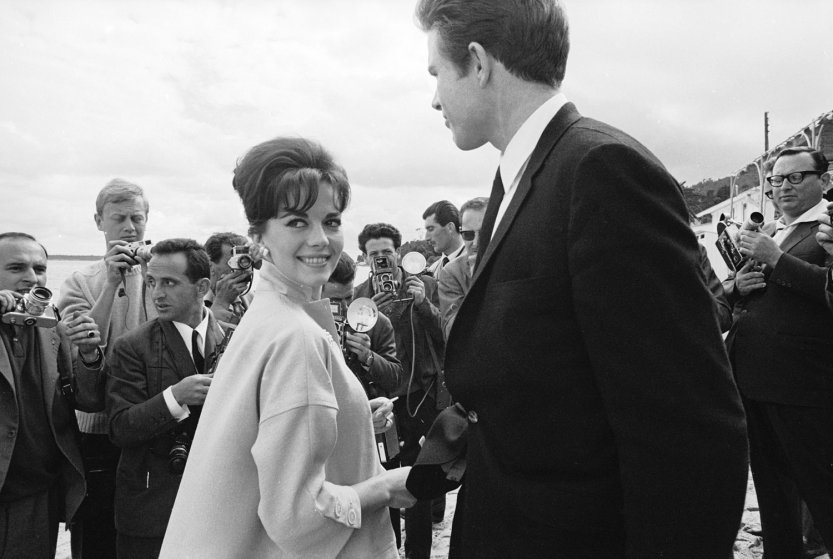 Natalie Wood and Warren Beatty, Cannes, 1962.