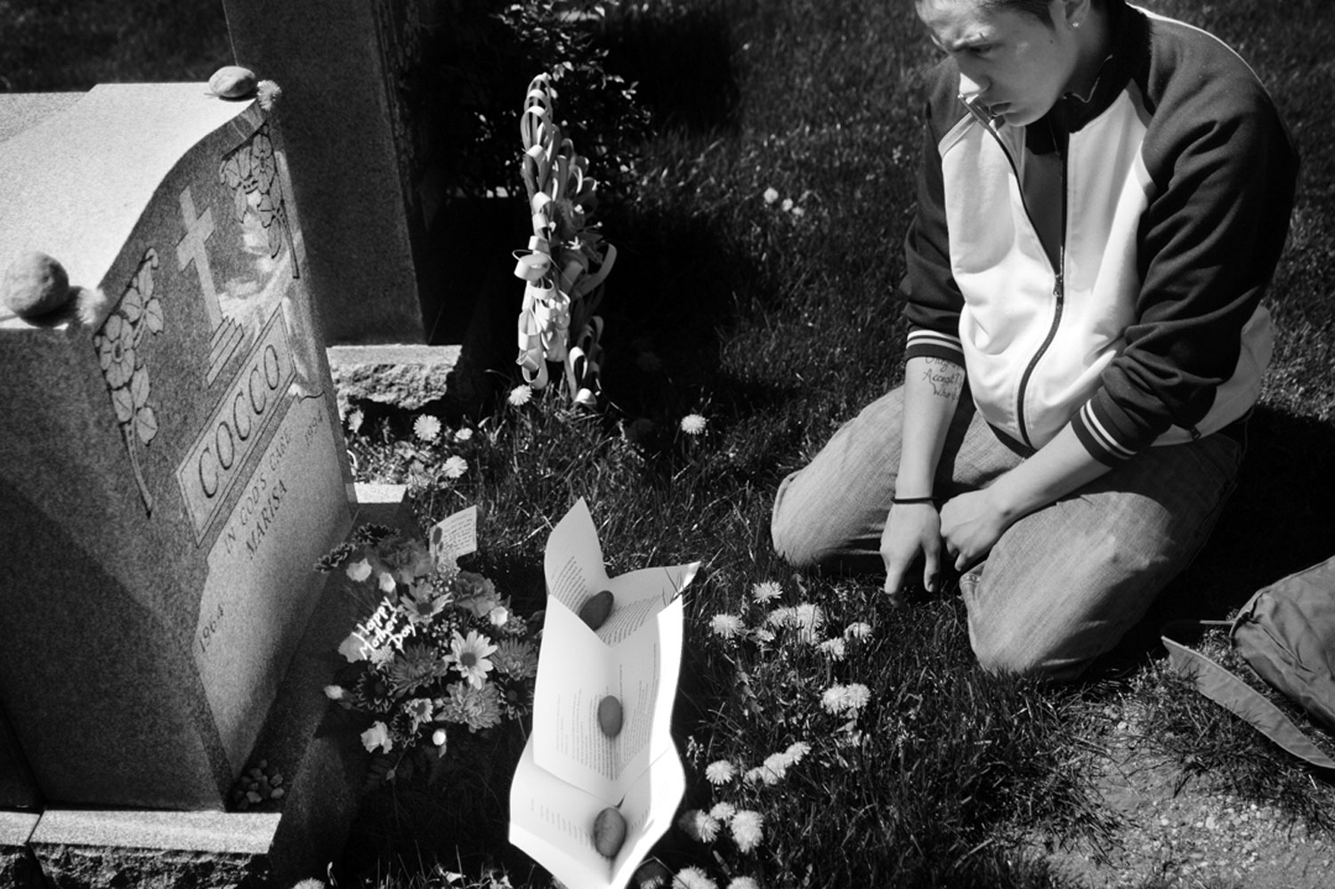 C. visits her mother's grave. May 2007.30% of all LGBT homeless youth have had experience in the foster care system; many LGBT youth run away from their placements in order to escape from discrimination or, in some cases, violence, at the hands of their staff members or foster parents.