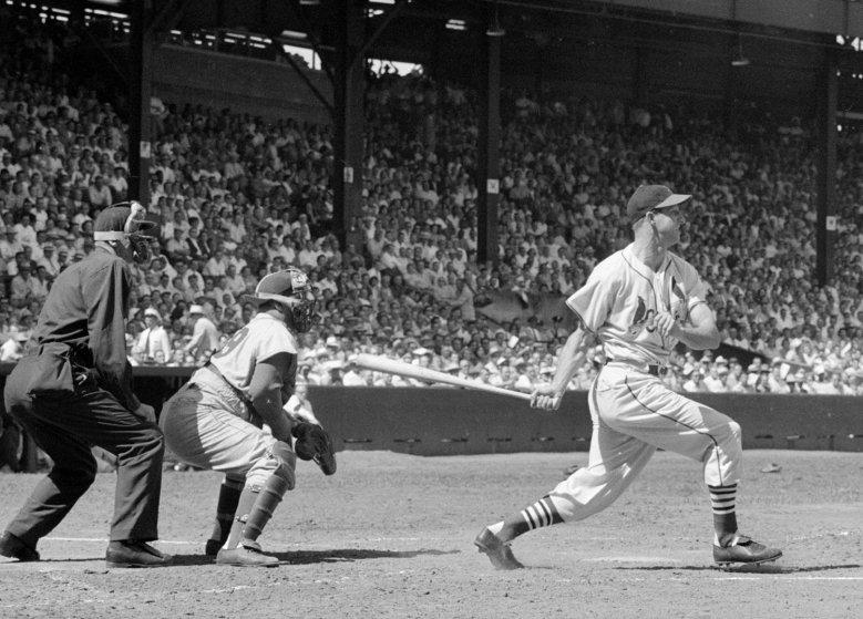 Stan Musial, Roy Campanella, Sportsman's Park, St. Louis