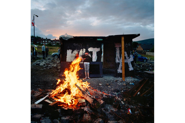 Preparing to burn the bonfire in Upper Ardoyne on July 11, 2011.