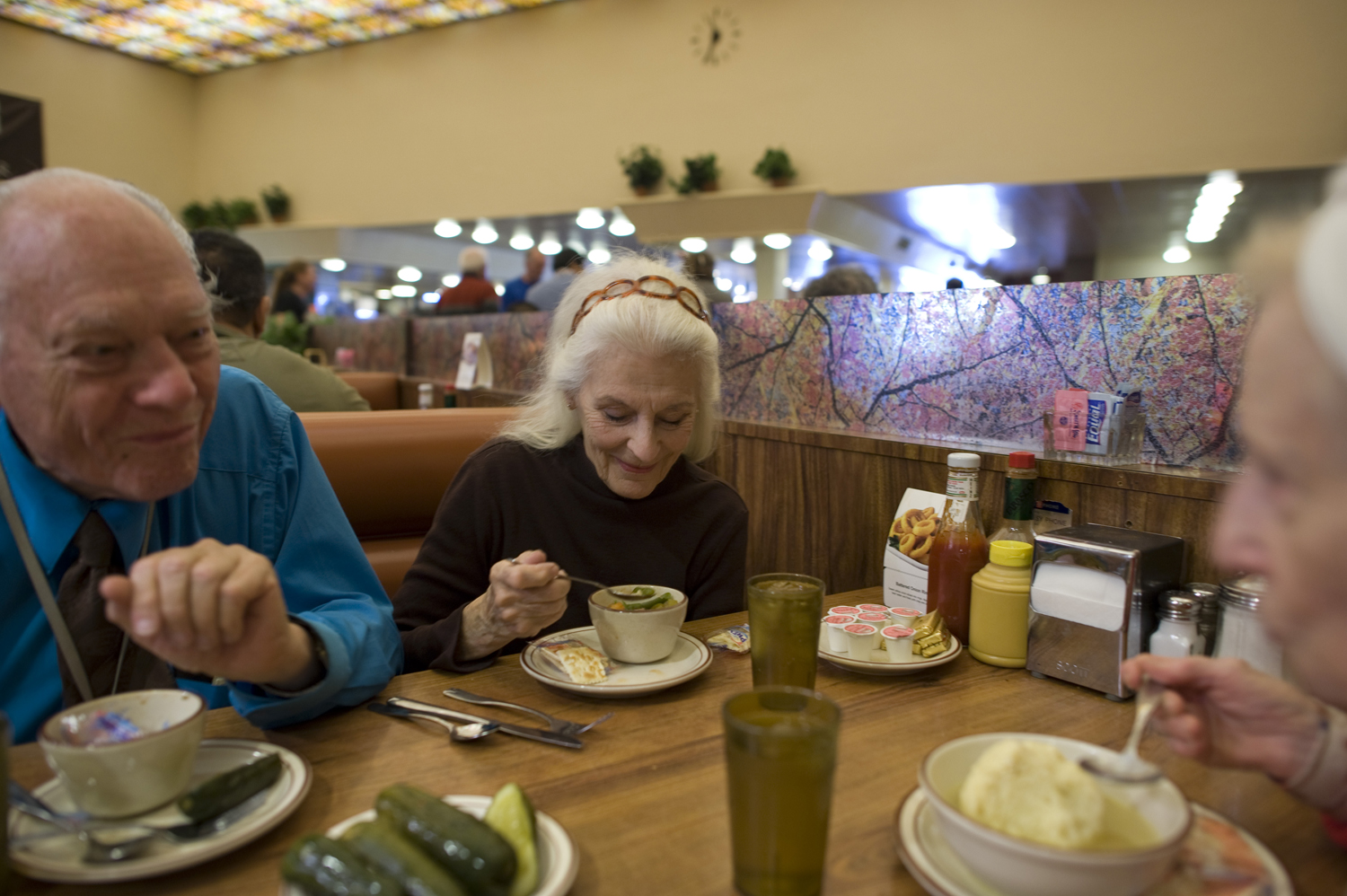 Jeanie, Will and Adina eat lunch on Christmas Day, 2011.