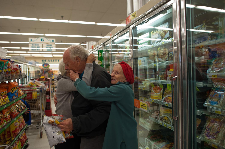 Jeanie, Will and Adina at the supermarket, 2011.