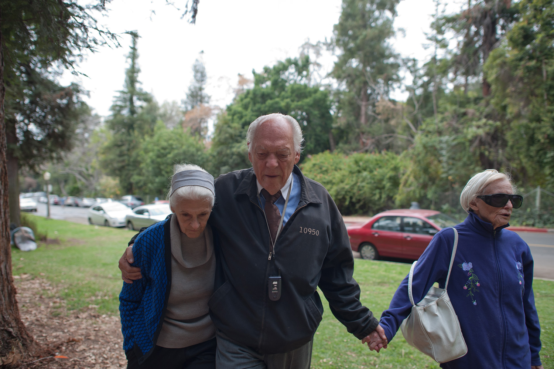 Jeanie, Will and Adina at the park on a Sunday, 2012.