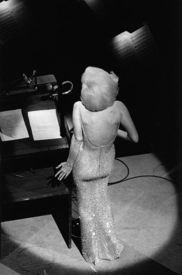 "Marilyn Monroe sings ""Happy Birthday"" to President John F. Kennedy, New York, May 19, 1962."