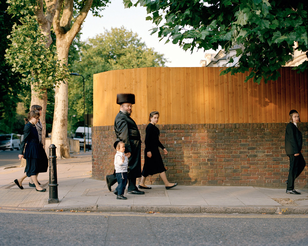 Orthodox Jews in Stoken Newington, Hackney. London. 2011