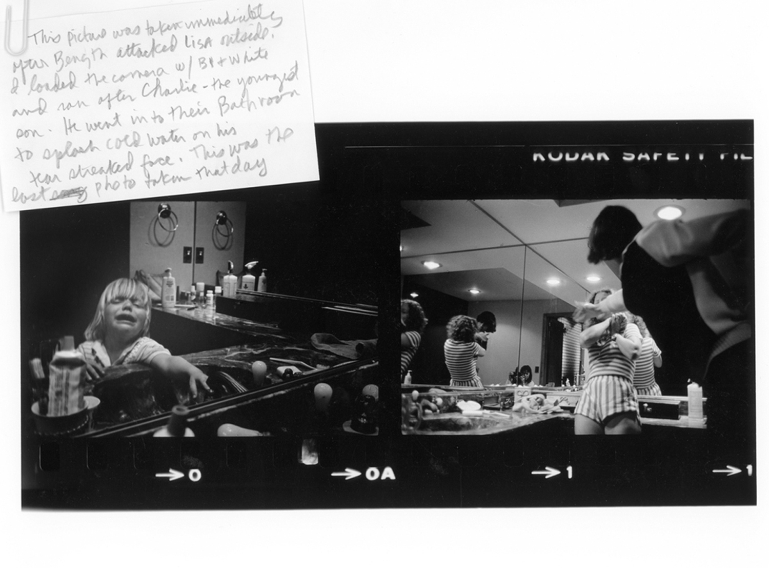 An image from the contact sheet of the day when Garth beat Lisa. Saddle River, N.Y., 1982.