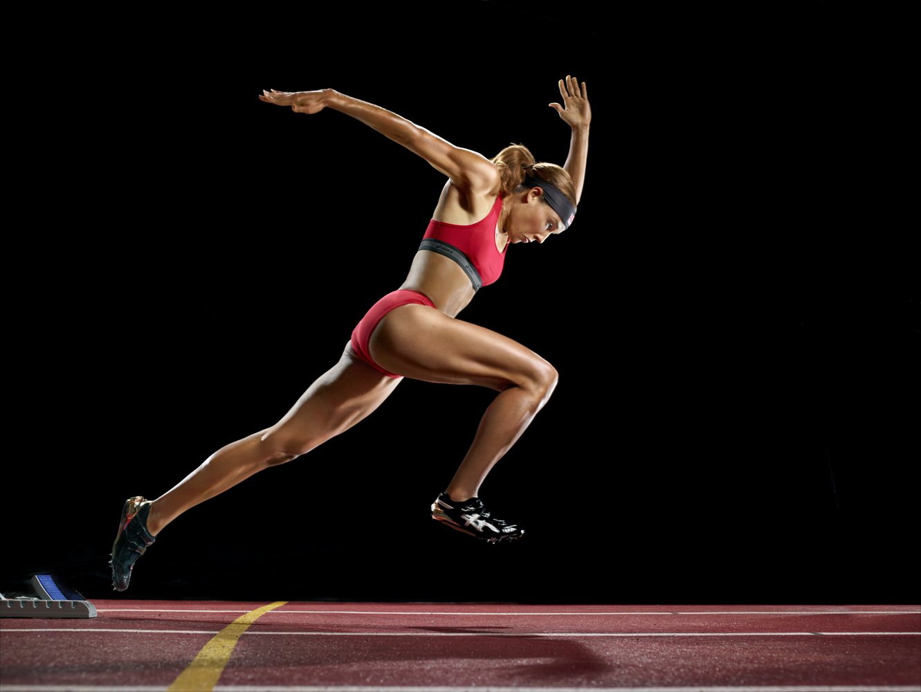Track and field athlete Lolo Jones trains for the London Games in Baton Rouge, La.