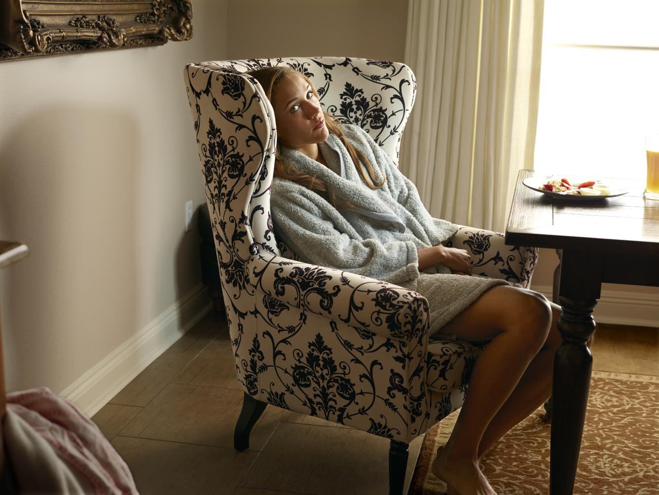 Jones eats breakfast in her home in Baton Rouge, La.