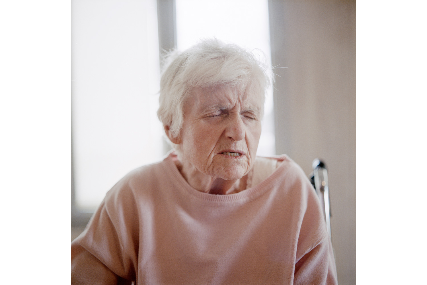 A resident in the common room of the Alzheimer's ward
