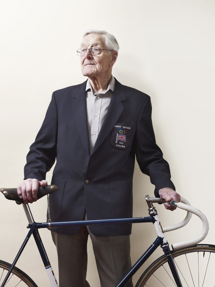 Goodwin's interest in cycling began at age 14 when he got a job delivering groceries by bicycle.                                The preparation for the 1948 Olympics was minor, he said, compared to today.  After we won our bronze medals, we went home just round the corner and had a sit-down and a chat and a laugh...Everything was so basic. Everything was amateur.