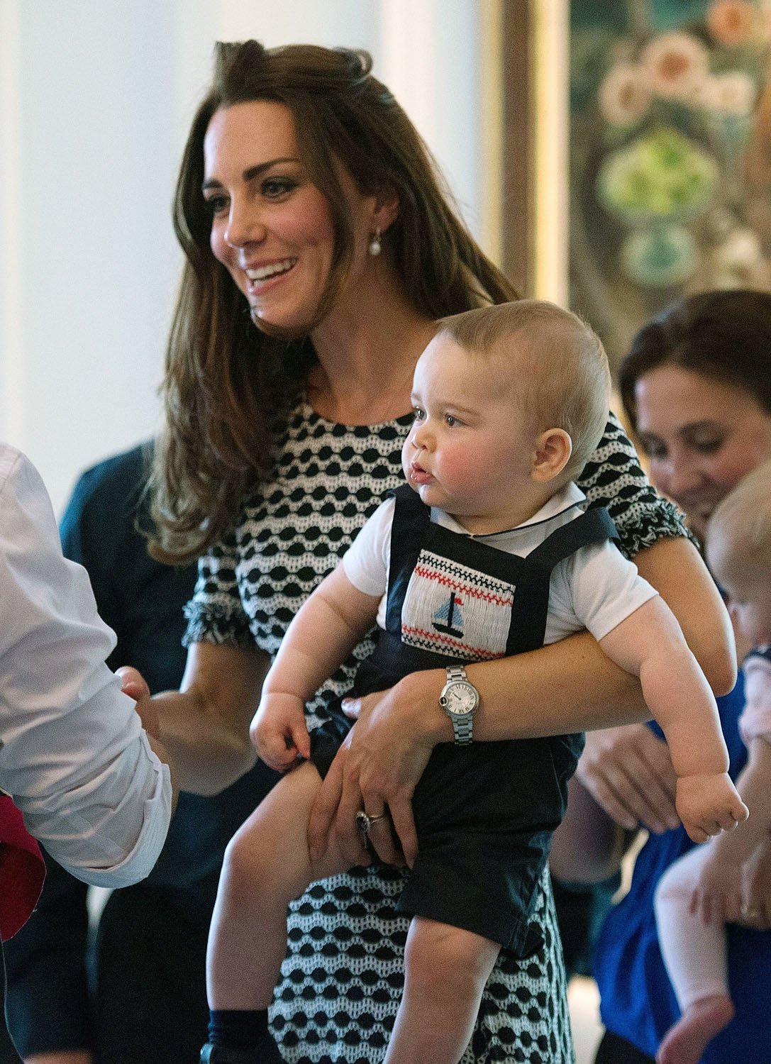 <strong>Oh, Baby</strong>Catherine, Duchess of Cambridge holds Prince George of Cambridge as they attend Plunkett's Parent's Group on April 9, 2014 in Wellington, New Zealand, during their three-week tour of Australia and New Zealand, the first official trip overseas with their son, Prince George of Cambridge.