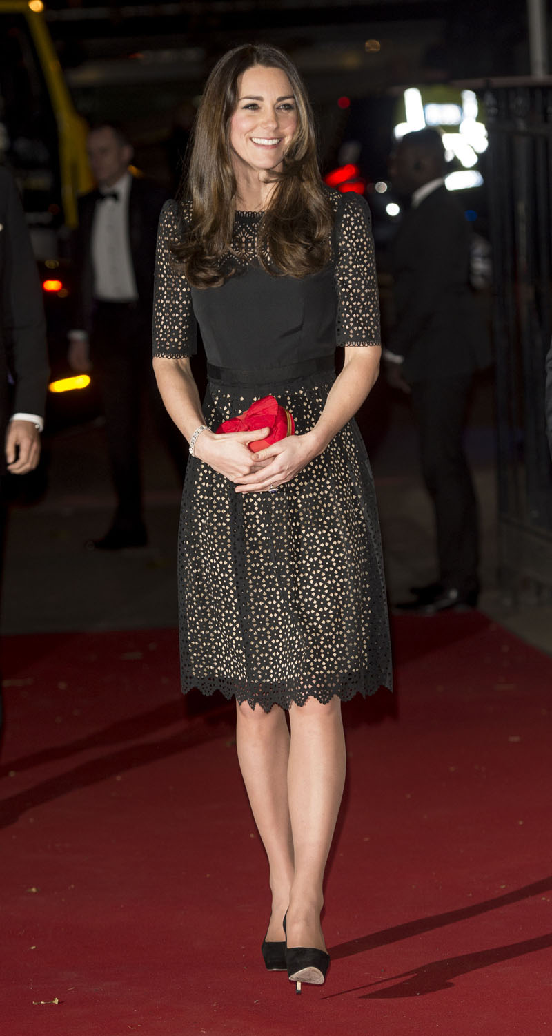 <strong>Little Black (Lace) Dress</strong>Catherine, Duchess of Cambridge attends the annual SportsAid dinner at Victoria Embankment Gardens on November 28, 2013 in London, England.