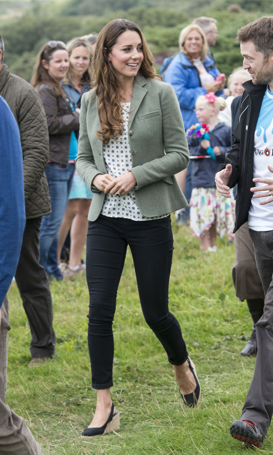 <strong>Polka Dot Trailblazer</strong>Catherine, Duchess of Cambridge starts The Ring O'Fire Anglesey Coastal Ultra Marathon on August 30, 2013 in Holyhead, Wales.