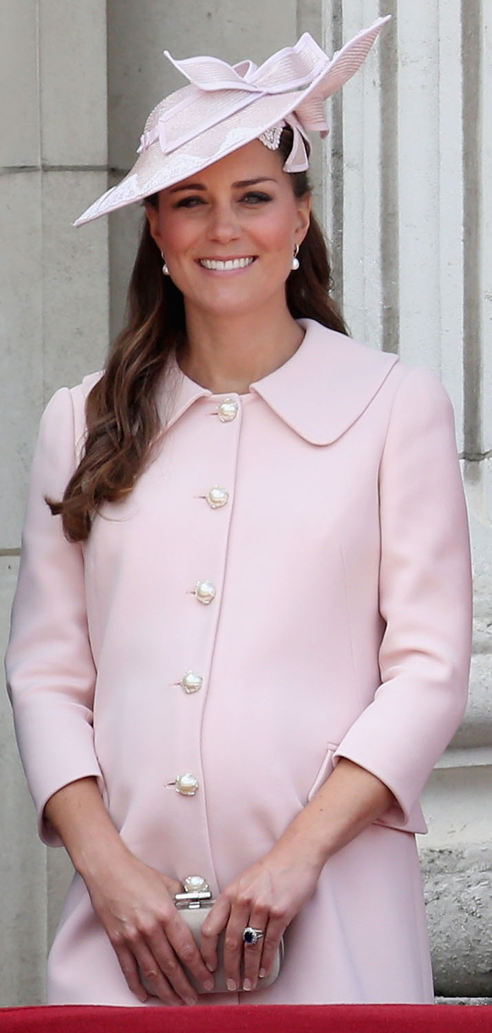 <strong>Pretty in Pastel Pink</strong>Catherine, Duchess of Cambridge laughs on the balcony of Buckingham Palace during the annual Trooping the Colour Ceremony on June 15, 2013 in London.