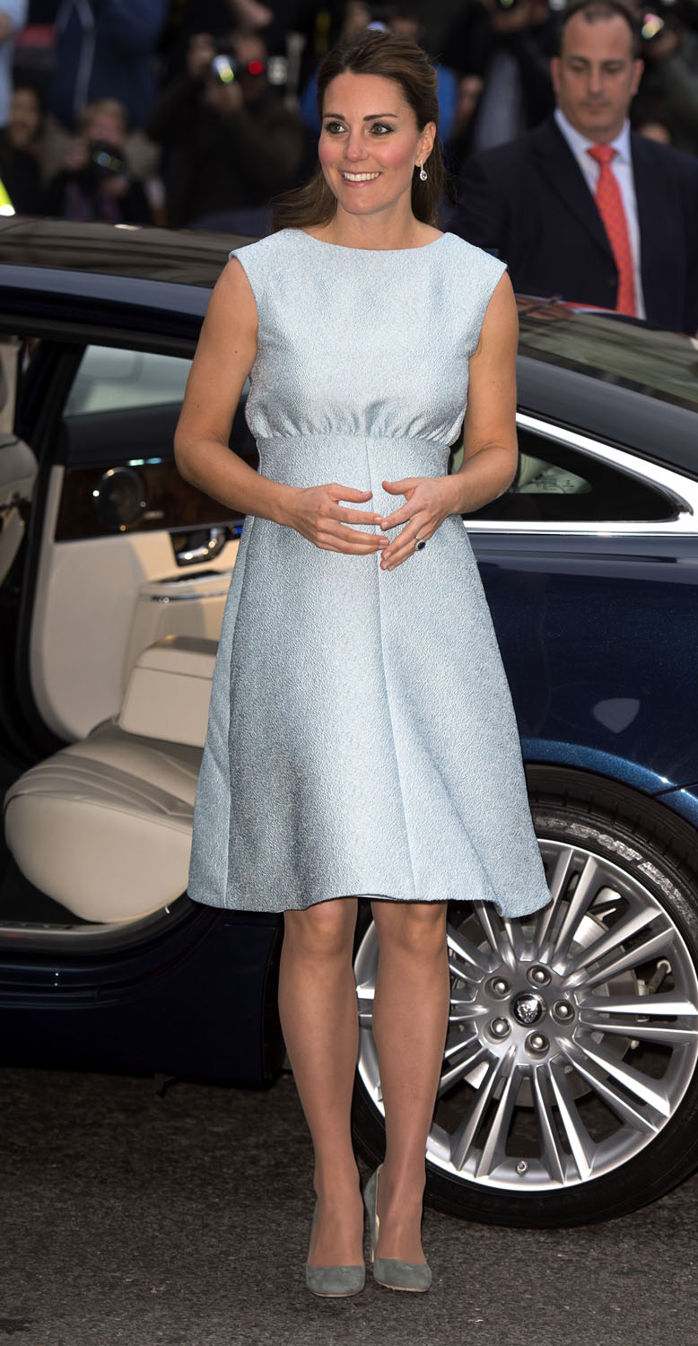 <strong>Baby Bump In Blue</strong>Catherine, Duchess of Cambridge, in her role as Patron of The Art Room, attends an evening reception to celebrate the work of the charity at the National Portrait Gallery on April 24, 2013 in London, England.