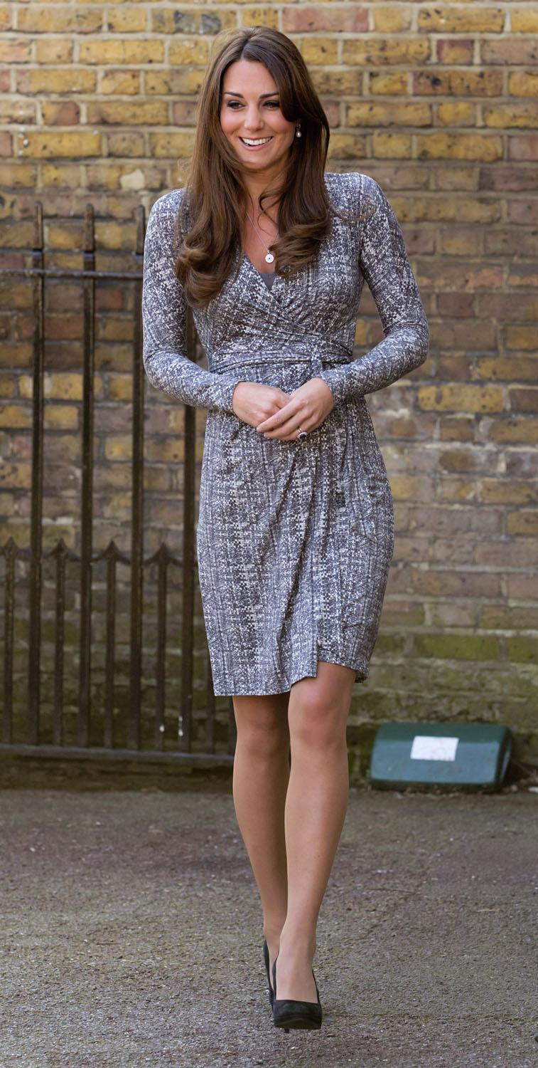 <strong>All Wrapped Up</strong>Catherine, Duchess of Cambridge, in her role as Patron of Action on Addiction, arrives for a visit to Hope House, a residential treatment centre, on February 19, 2013 in London.