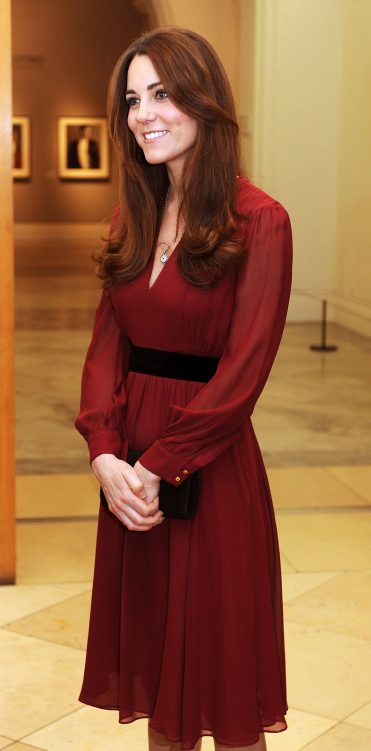 <strong>Kate on Kate</strong>Catherine, Duchess of Cambridge is seen after viewing artist Paul Emsley's new portrait of herself during a private viewing at the National Portrait Gallery on January 11, 2013 in London, England.