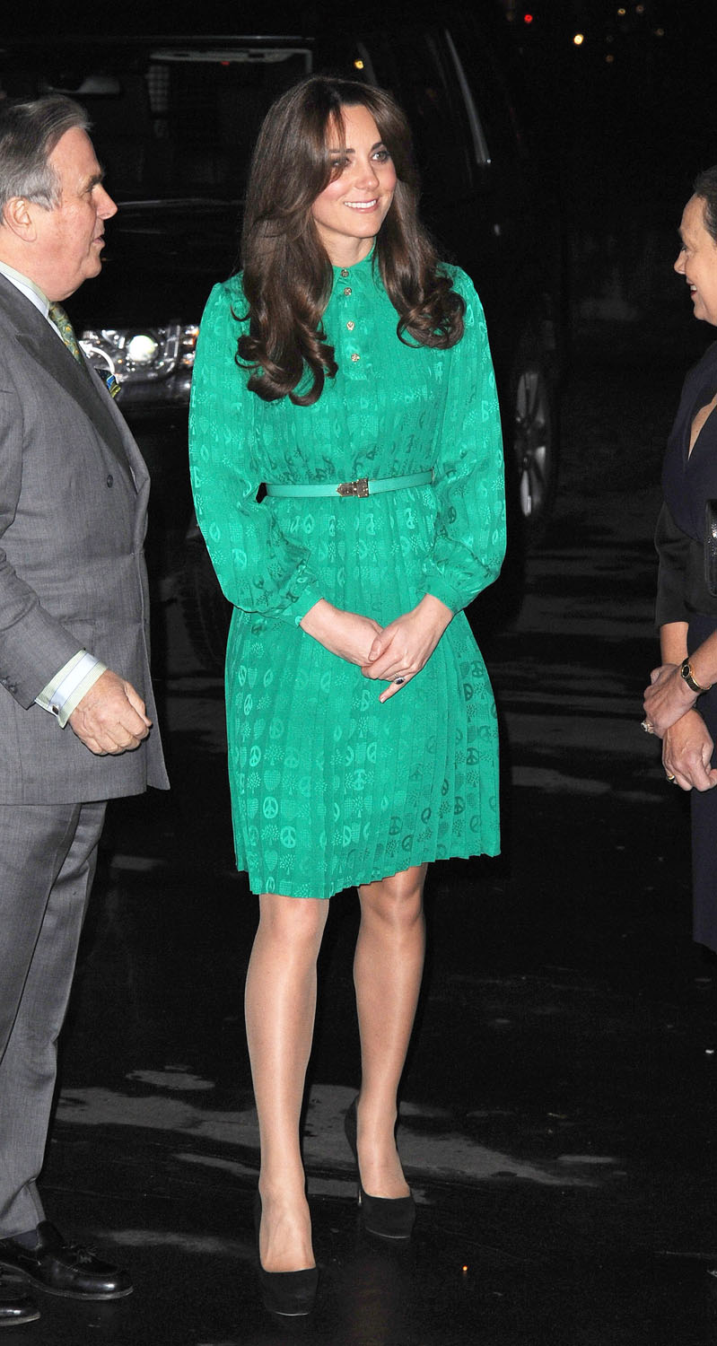 <strong>Groovy in Green</strong>Catherine, Duchess of Cambridge attends the official opening of The Natural History Museums's Treasures Gallery at Natural History Museum on November 27, 2012 in London.