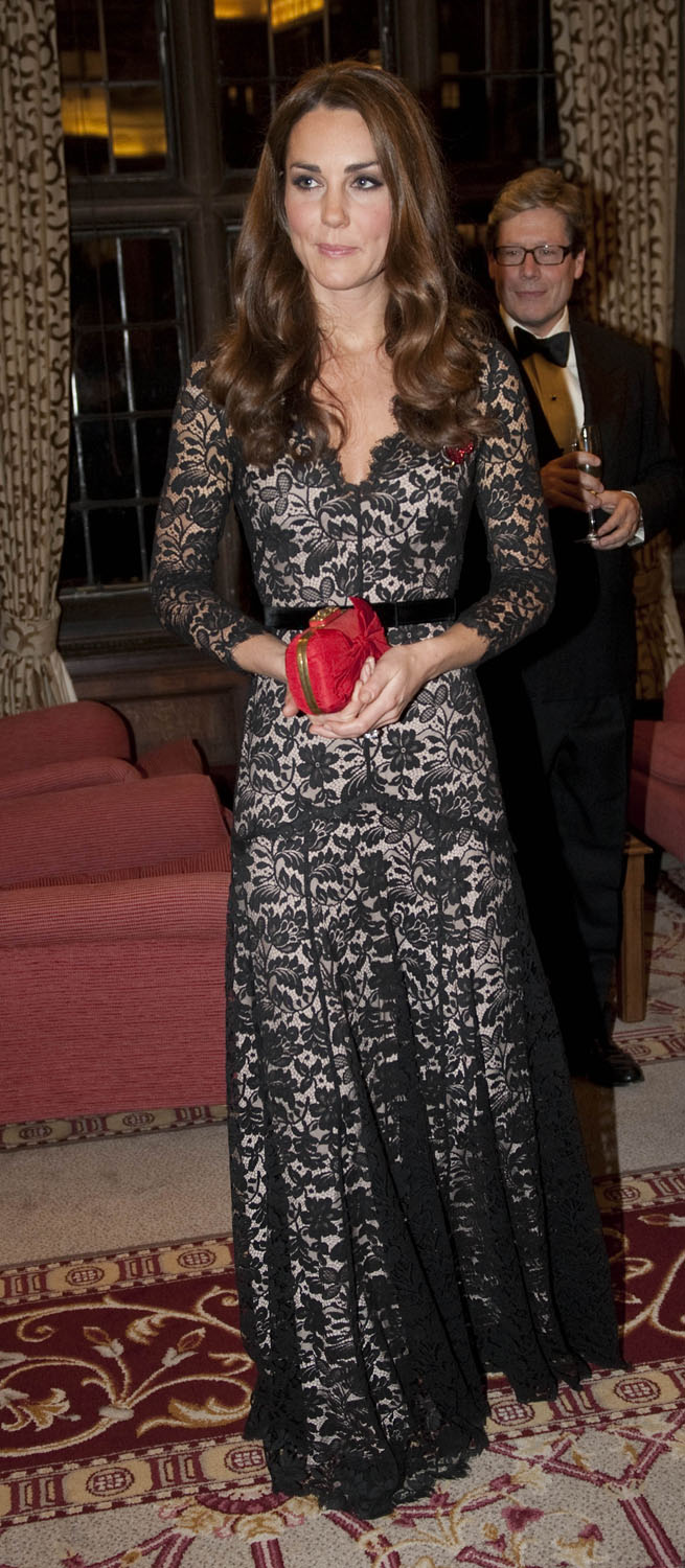 <strong>Pop of Color</strong>Catherine, Duchess of Cambridge attends a Reception and Dinner in aid of the University of St. Andrews 600th Anniversary Appeal at Middle Temple Hall on November 8, 2012 in London.