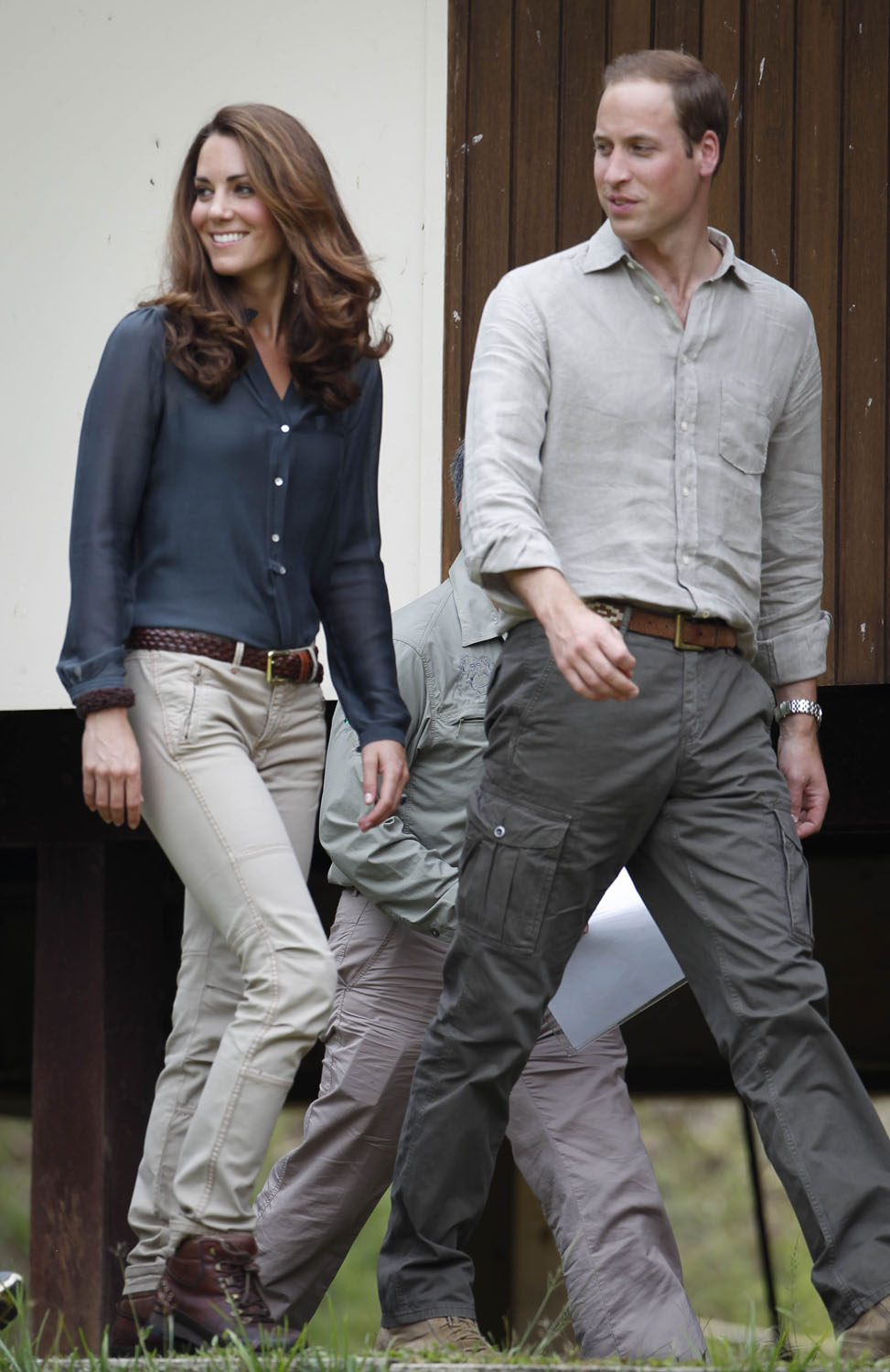 <strong>Rugged Beauty</strong> Britain's Prince William and his wife Catherine, the Duchess of Cambridge, arrive in Danum Valley Research Center in Danum Valley, some 70 kilometers west of Lahad Datu, on the island of Borneo on September 15, 2012.