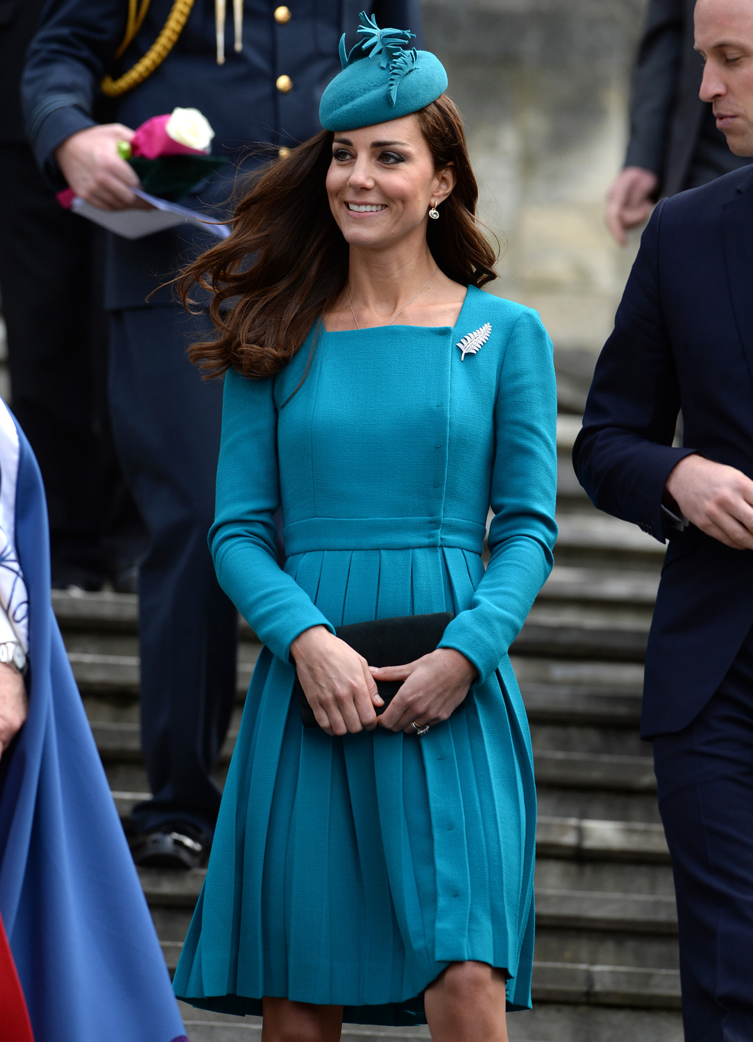 <strong>Same Dress, Different Color</strong>Catherine, Duchess of Cambridge visits Cathedral Church at St Paul on April 13, 2014 in Dunedin, New Zealand.