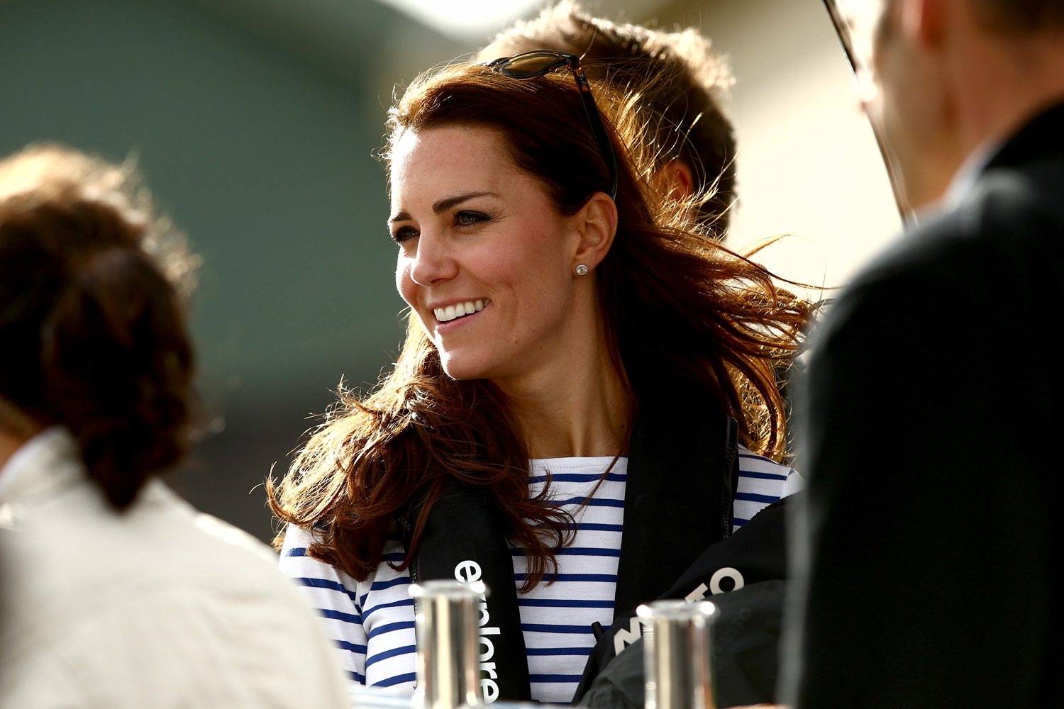 <strong>Team Kate Triumphs</strong>Catherine, Duchess of Cambridge arrives at the Westpark Marina on a Sealegs amphibious marine craft at the Whenuapai RNZAF base on April 11, 2014 in Auckland.