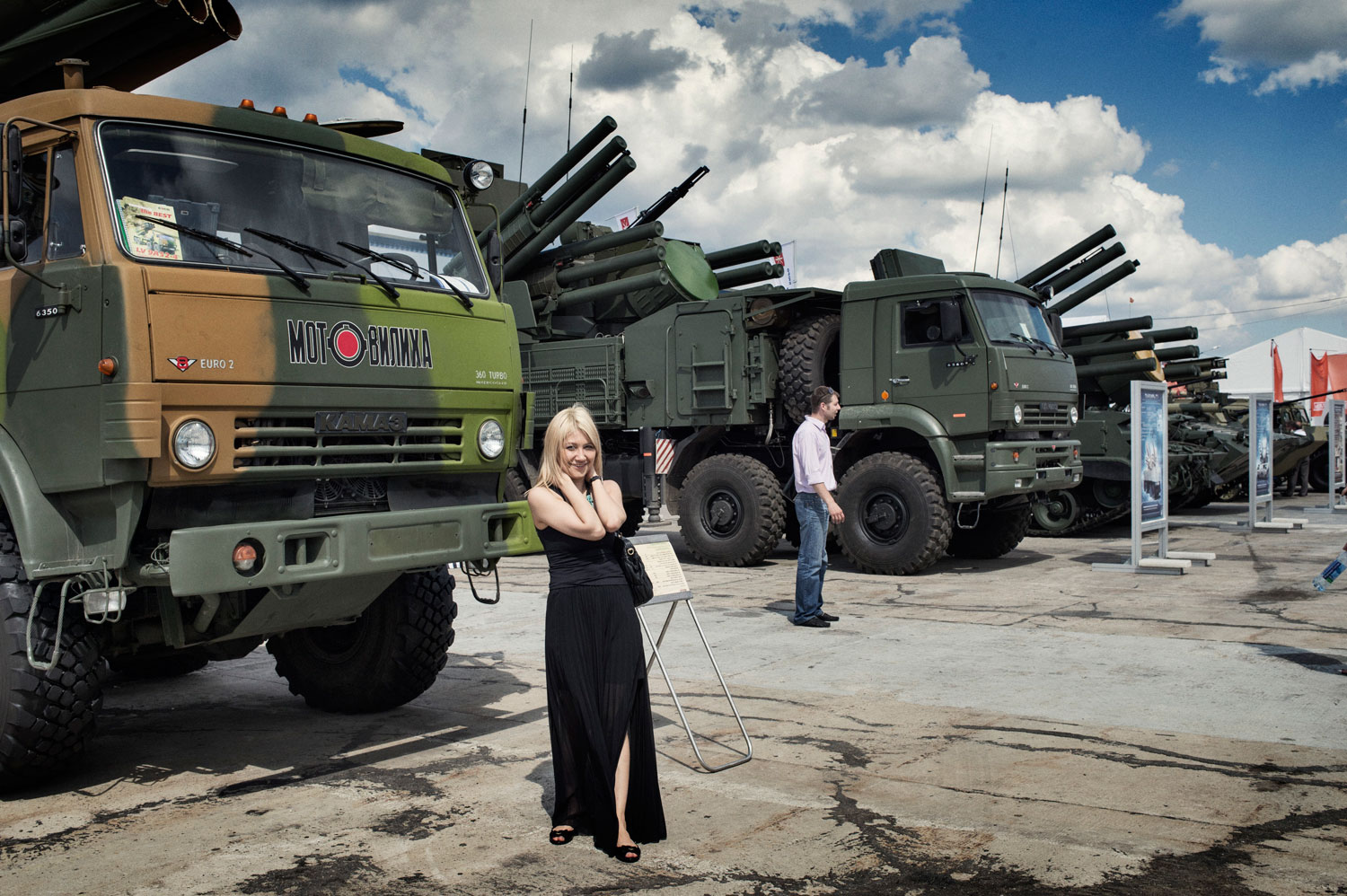 The biennial Russian arms bazaar is held at an airfield outside Moscow.